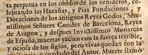 Aquí un catalán muy facha, porque en español dice que Barcelona es condado de los Reyes de Aragón y por consiguiente de los de España. 🙂