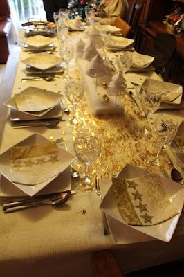 deco table noel argent et or