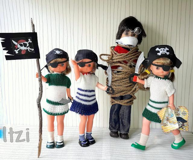Lesly Lana y Lesly Piratas, con Lucas de famosa