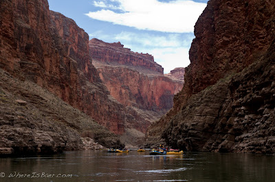 Getting comfortable in our new home, Grand Canyon of the Colorado, Chris Baer