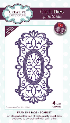 Creative Expressions Frames and Tags Collection Scarlet Dies CED4332