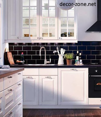 black kitchen backsplash tile ideas