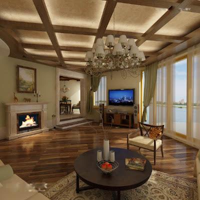 Mẫu thiết kế trần giả bằng gỗ hiện đại