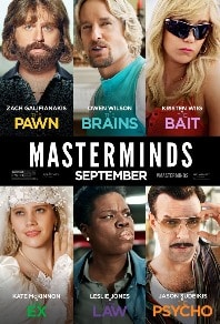 فيلم MasterMinds 2016 مترجم اون لاين