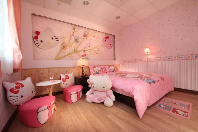 Trang tri phong ngu Hello Kitty dep 08