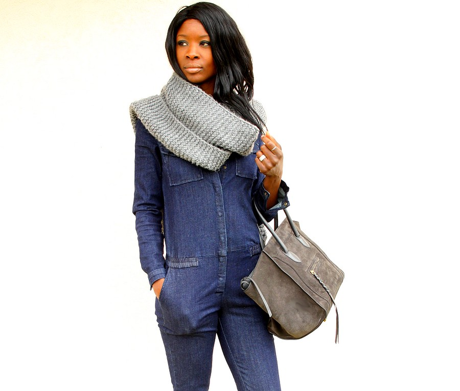 Blog-mode-combinaison-jeans-celine-phantom-maxi-echarpe
