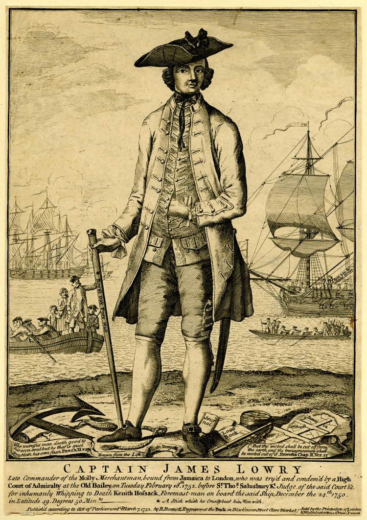 Captain James Lowry, 1752