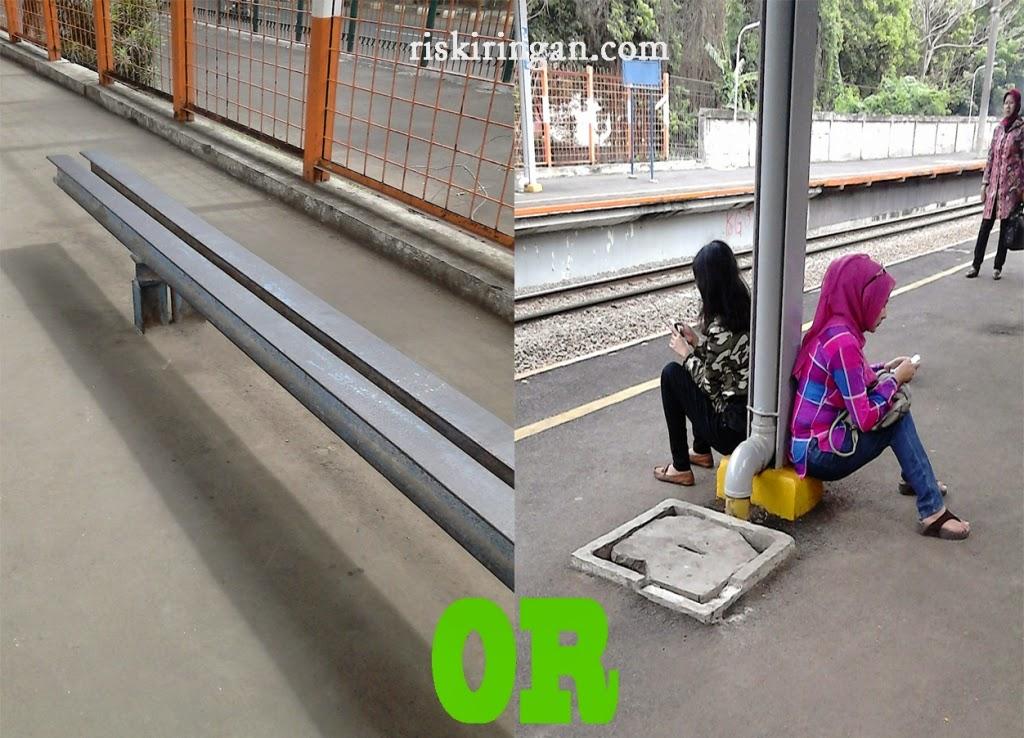 peron stasiun commuterline