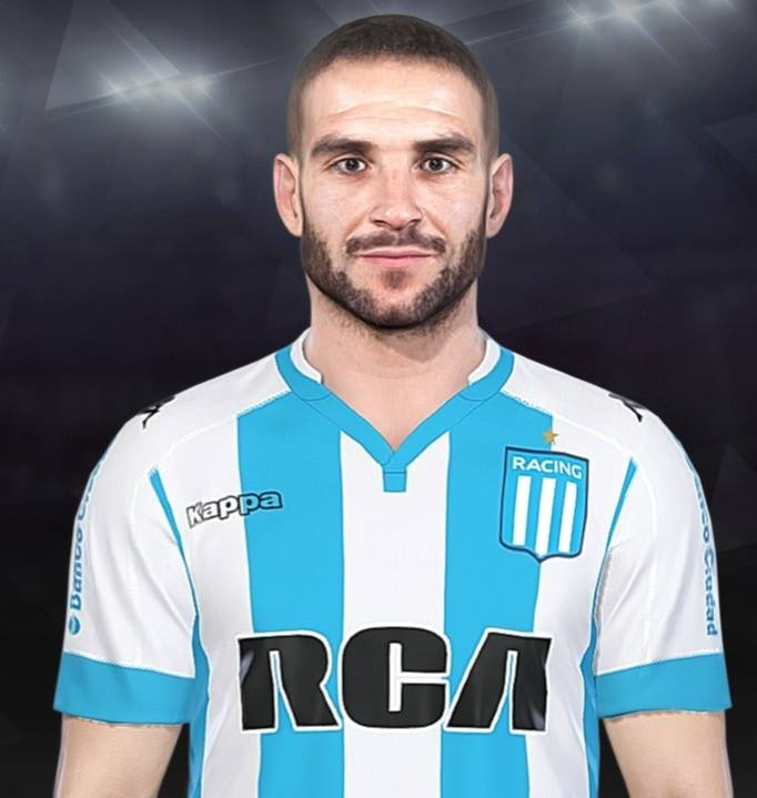 PES 2018 Lisandro Lopez (Racing Club) Face by Luis Facemaker