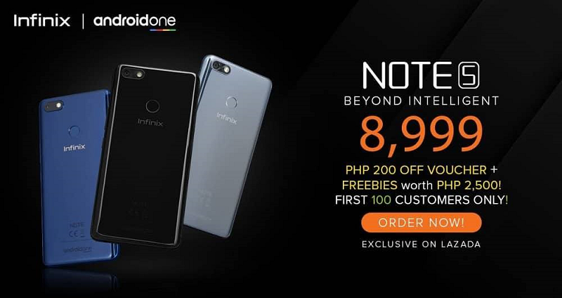 Infinix Note 5 Android One smartphone now exclusively available at Lazada for PHP 8,999!