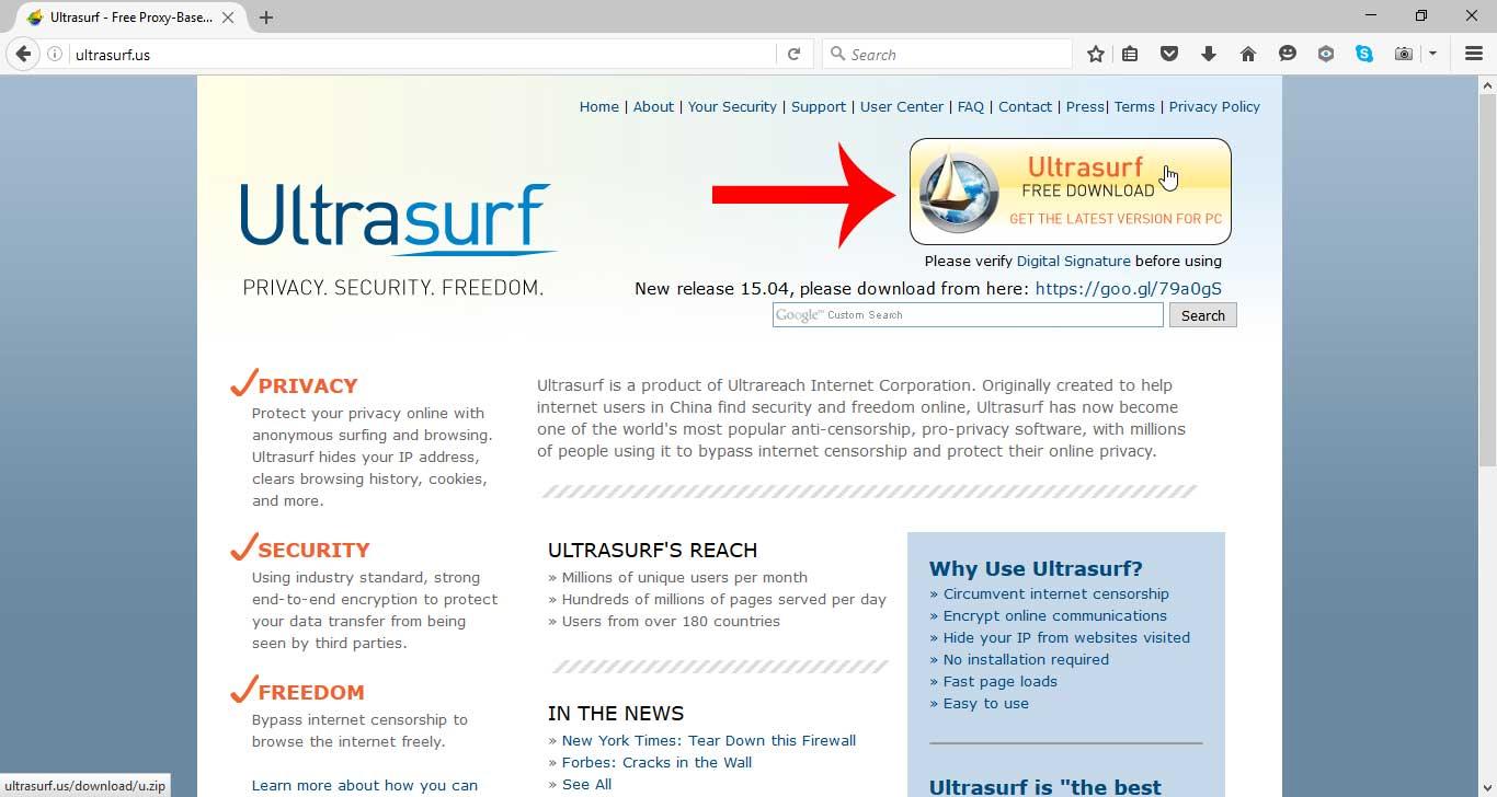 Ultrasurf home | facebook.