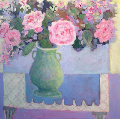 "Contemporary Still Life Art Painting ""WELCOME SPRING"" by Santa Fe Artist Annie O'Brien Gonzales"