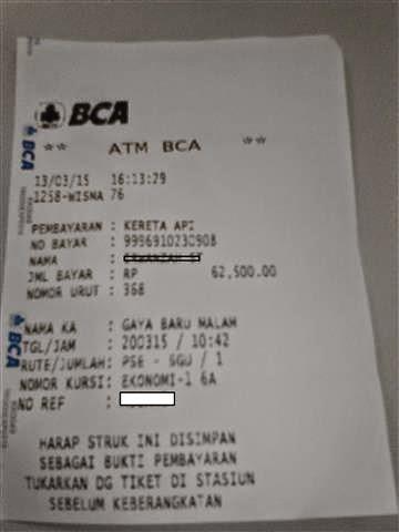 """""""CARA MUDAH MEMBAYAR TIKET KERETA API"""" di ATM BCA"""