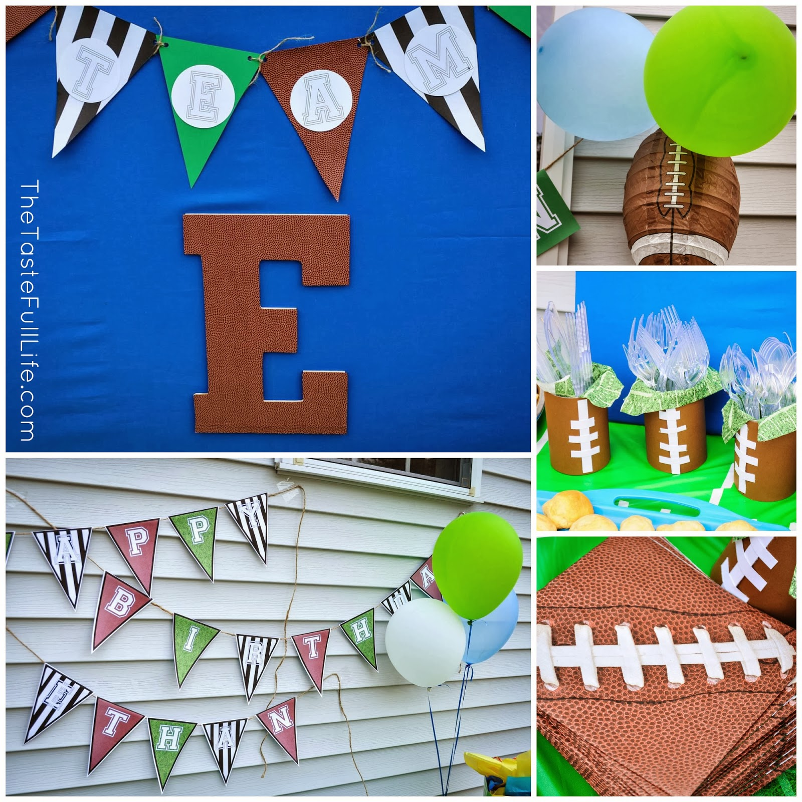 Super Bowl Party Decorations Uk: Team E: Football Themed Birthday Party.