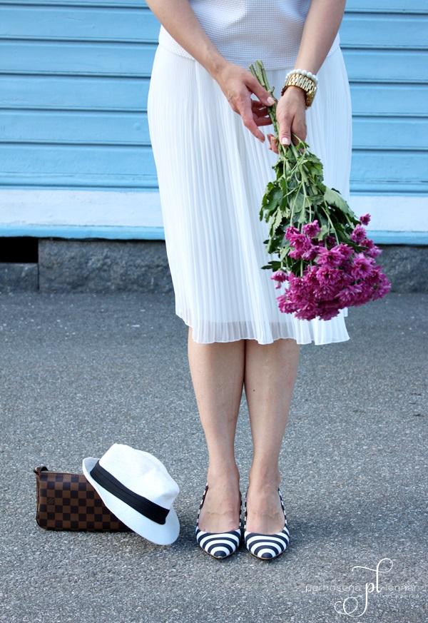 Zara pleated skirt Zara white pleated skirt