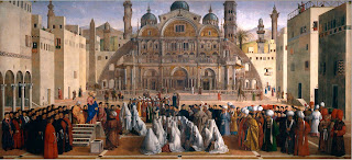 Gentile Bellini's painting Saint Mark Preaching in Alexandria