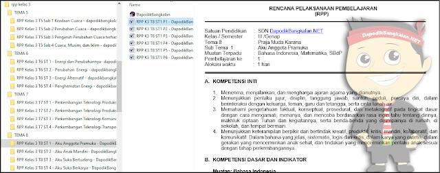 RPP Kurikulum 2013 Kelas 3 Revisi Tahun 2018