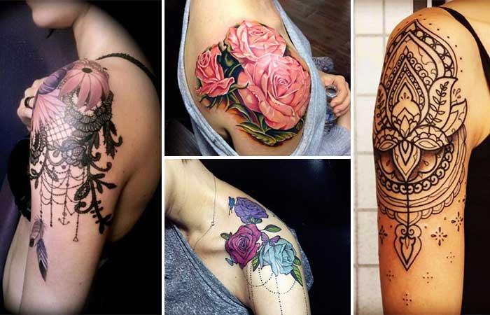 kadın omuz dövme modelleri woman shoulder tattoo designs