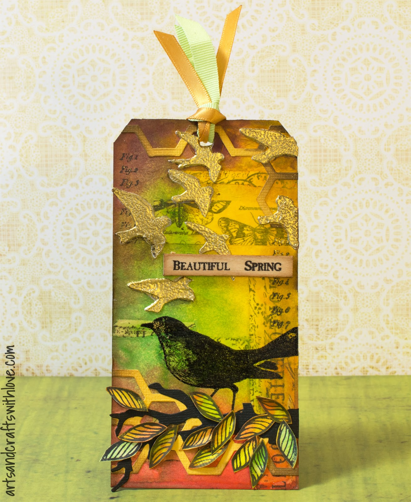 Cardmaking: March tag in series '12 Tags of 2015'