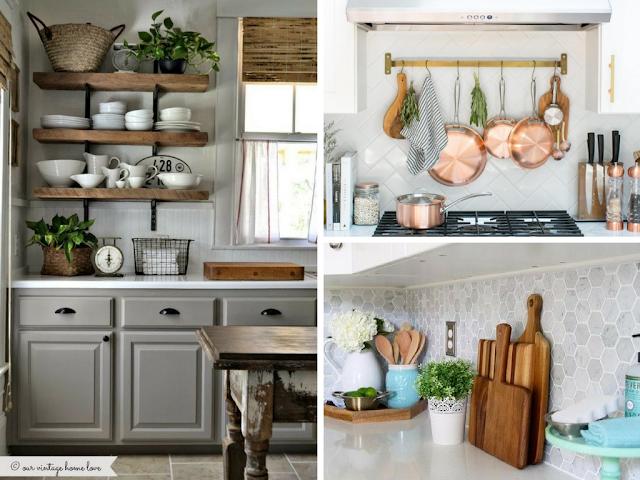Utensílios de cozinha que são peças de decoração
