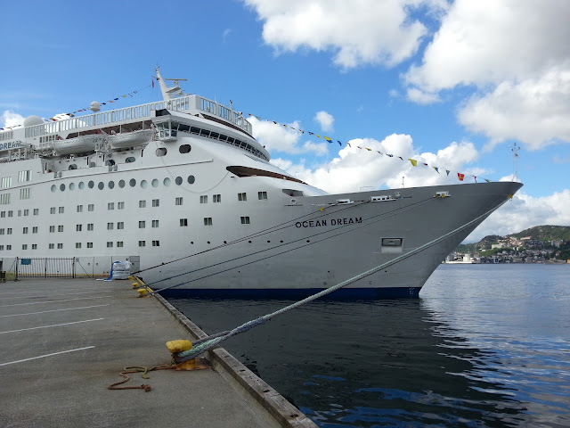 Peace Boat Ocean Dream in Bergen, Norway; Ships in Bergen