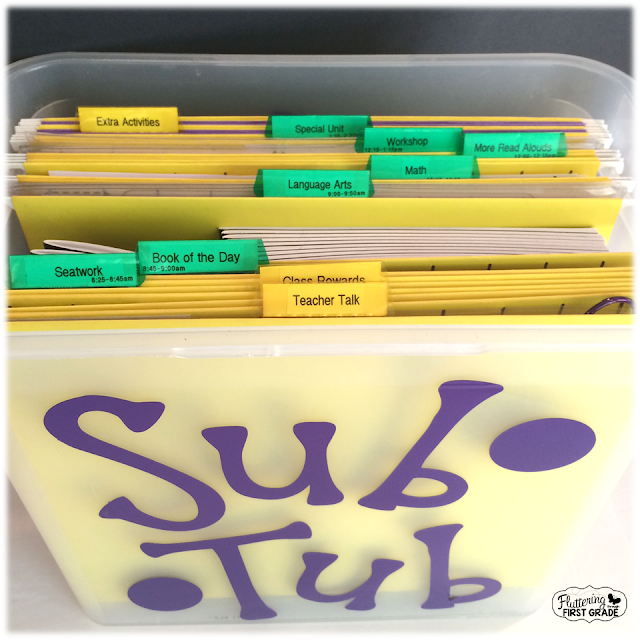 How to make a sub tub for the classroom