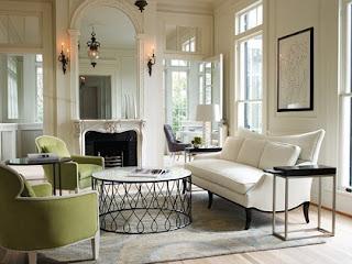 sala color verde blanco