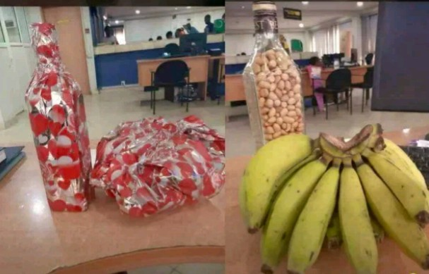 Nigerian man shares photo of gift a cleaner gave to her boss on Valentine's day