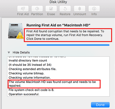 Run Disk Utility to Fix Slow Mac after upgrade to macOS Sierra -2