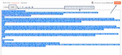 Inilah Fungsi dan Cara Membuat Disclaimer Pada Blog