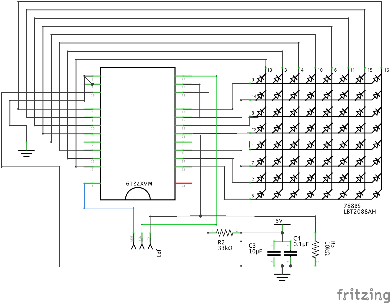hight resolution of this one is equivalent but instead of single leds we have pin layout of led module