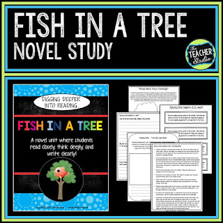 Using read alouds as mentor texts can help students become better readers and writers.  Check out these tips for getting students better at responding to reading, narrative writing, and thinking deeply.  Reader's workshop, teaching narrative writing, Fish in a Tree, narrative writing lessons, narrative writing printables