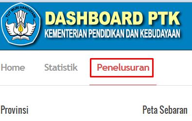 Dashboard Ptk Data Referensi Pendidikan Pdsp Data Sekolah