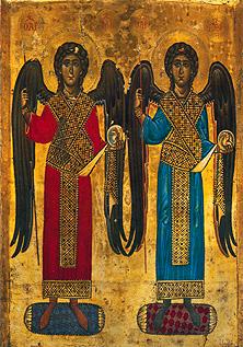 Icône avec deux anges