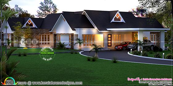 3d house plan + elevation