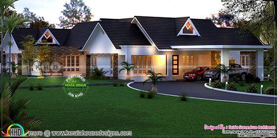 3d house plan + elevation