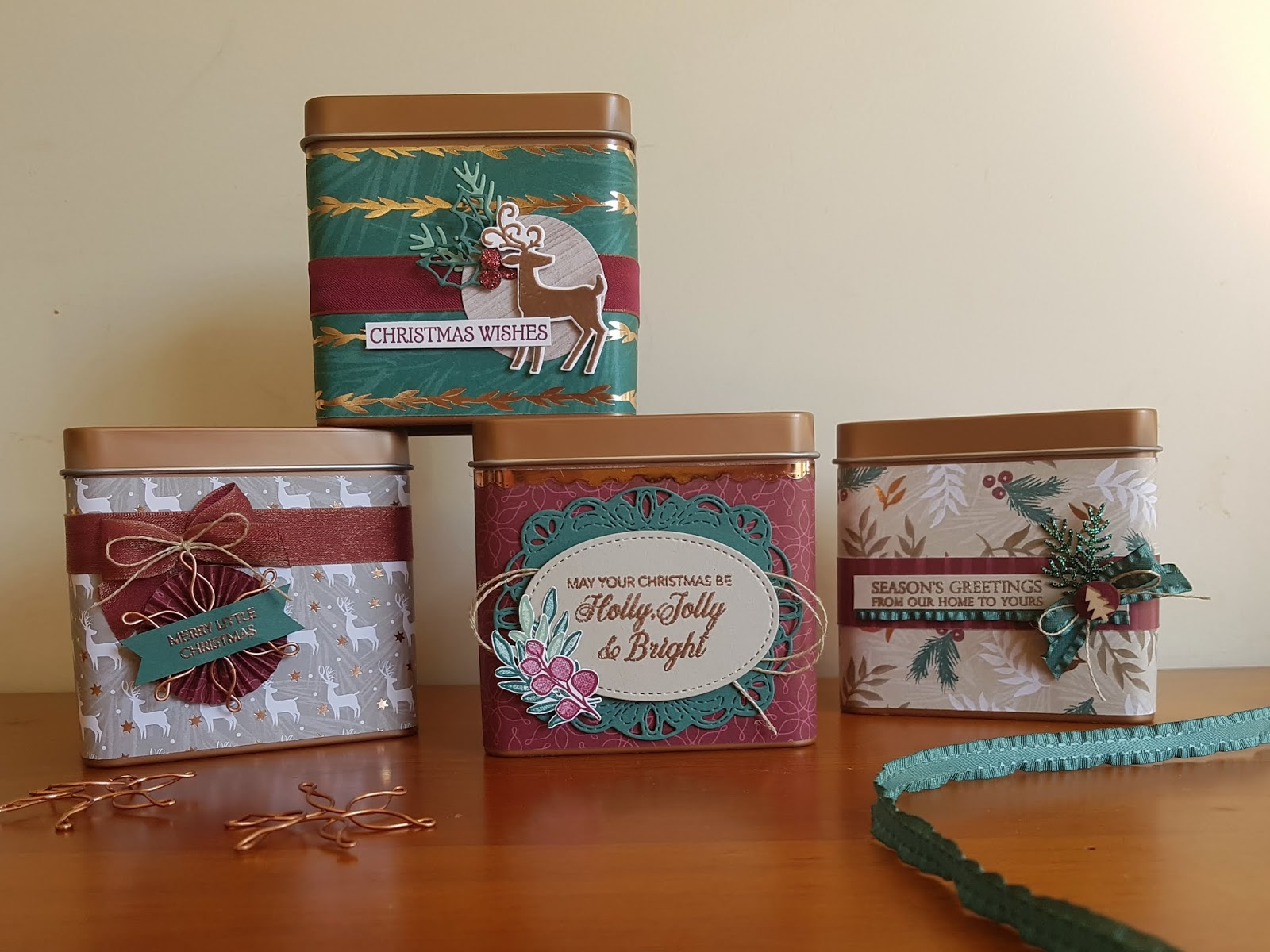 Tanya Rees Papercraft: Christmas Copper Tea Tins for TGIF Challenge #178