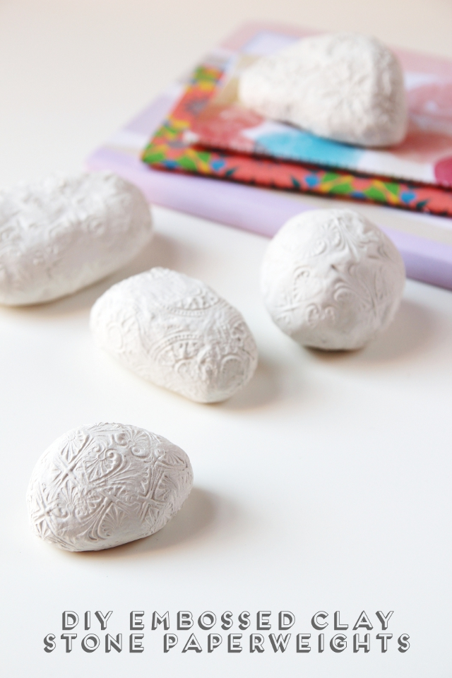 Diy Embossed Clay Stone Paperweights.