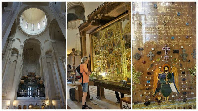 interior catedral de la Santísima Trinidad de Tiflis o Sameba