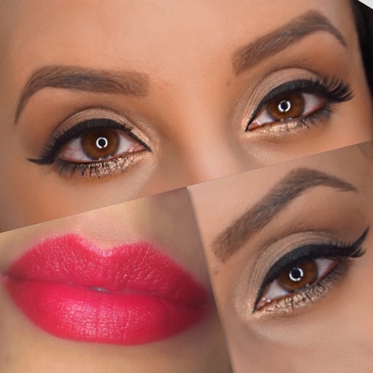 #‎MOTD-Neutral-Eyes-+-Fire-Red-Lips-PinkOrchidMakeup-Vivi-Brizuela