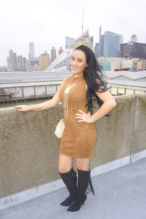 OOTD-Camel-Suede-Bodycon-Dress-Knee-High-Suede-Boots
