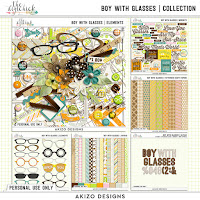 Kit : Boy With Glasses  Collection by Akizo Designs