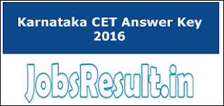 Karnataka CET Answer Key 2016