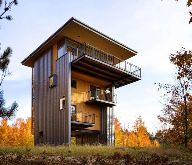 Rumah Vertikal 4 Lantai Sempit Dan Tinggi