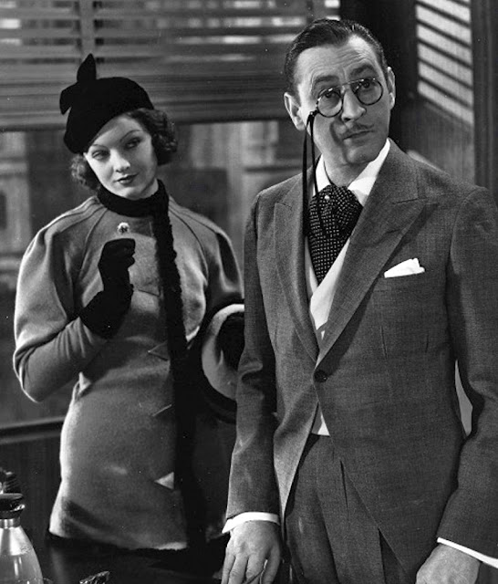 Myrna Loy and John Barrymore in Topaze