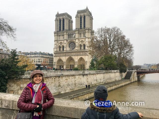 Notre Dame Katedrali ve Sen nehri, Paris