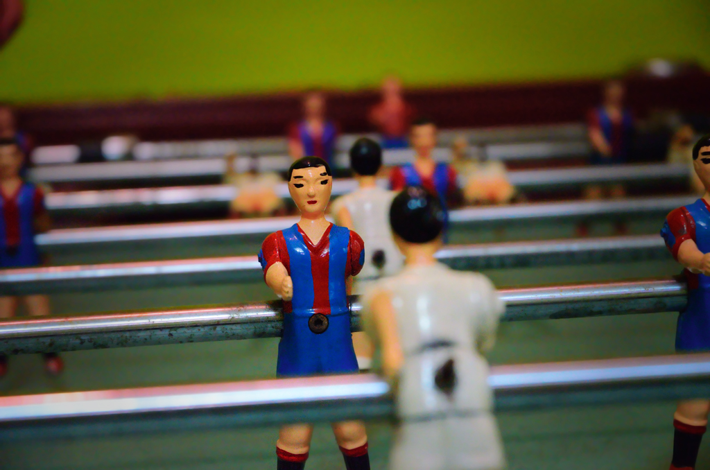 Futbolin or Table Soccer - FCBarcelona vs Real Madrid
