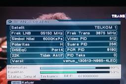 Frekuensi Trans 7 Terbaru Digital Parabola Satelit Telkom 4 Merah Putih