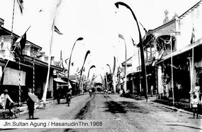 Foto JL. Sultan Agung dan JL. Hasanudin Pekalongan  Jaman Dulu